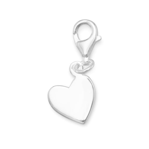 Angled Heart Tag with Lobster Clasp