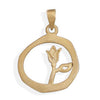 14 Karat Gold Plated Tulip Design Pendant