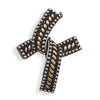 Oxidized Two Tone Cross Slide