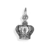 Oxidized Crown Charm