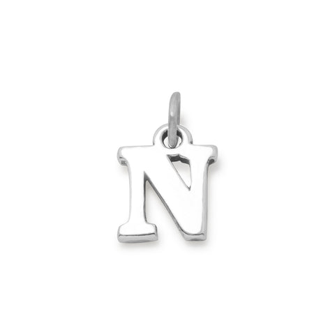 Greek Alphabet Letter Charm - Nu