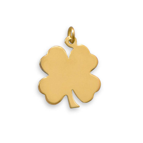 14/20 Gold Filled 4 Leaf Clover Engravable Pendant