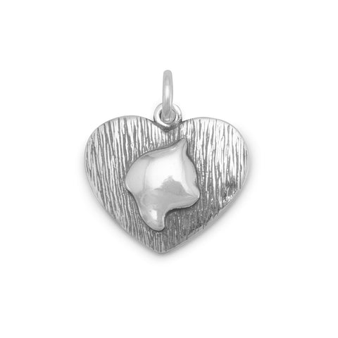 Oxidized Cat Silhouette Charm