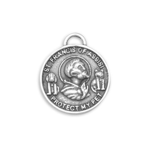 Oxidized St. Francis of Assisi Charm
