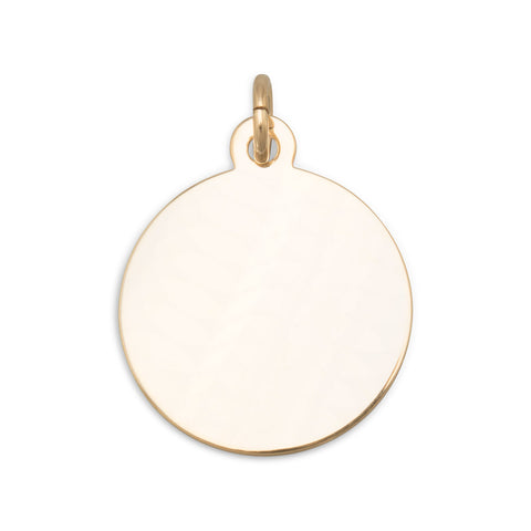 14/20 Gold Filled Round Engravable Tag