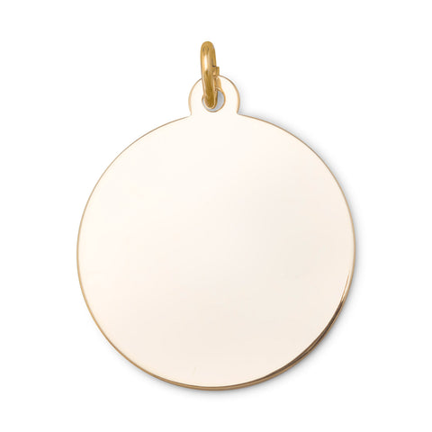 14/20 Gold Filled Large Round Engravable Tag