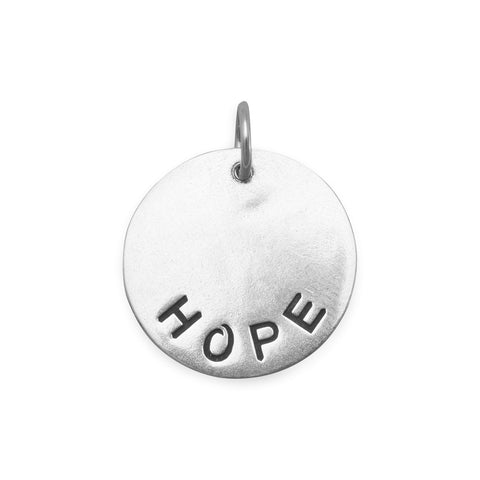 "Oxidized ""HOPE"" Pendant"