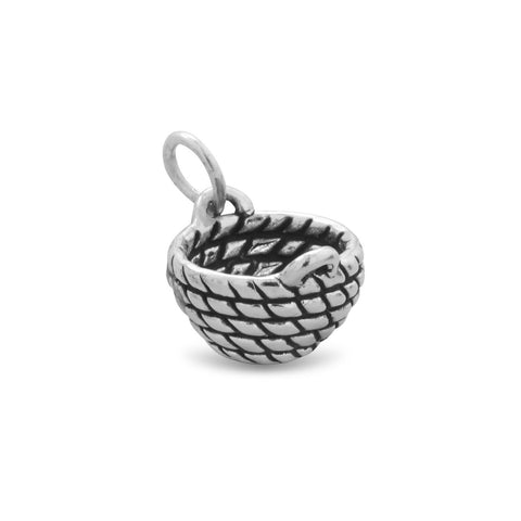 Oxidized Basket Charm