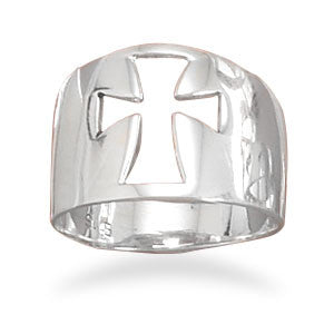 Large Cut Out Cross Ring