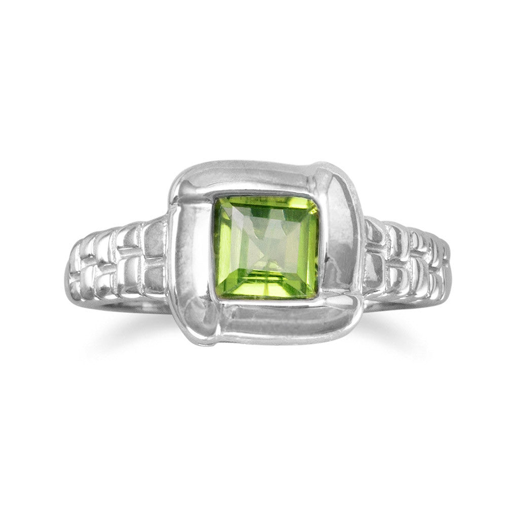 PERIDOT with Overlapped Edge Design Ring