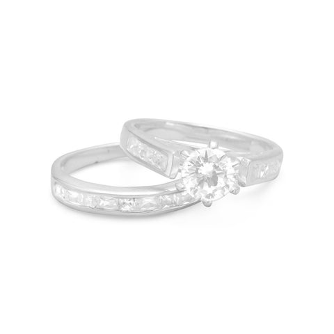 Double Band Baguette CZ Ring