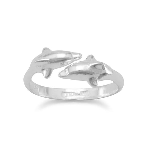 2 Dolphin Adjustable Ring