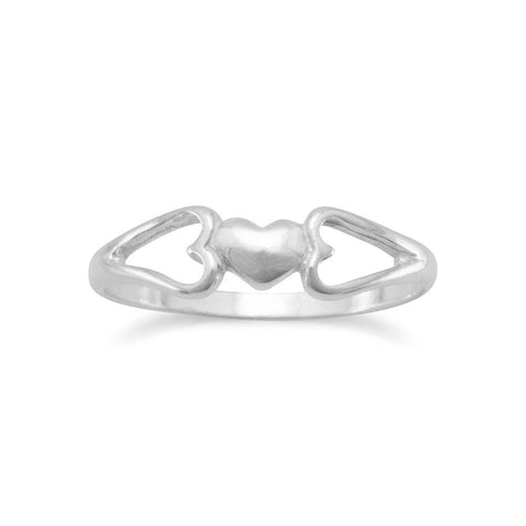 Heart Ring with Heart Sides