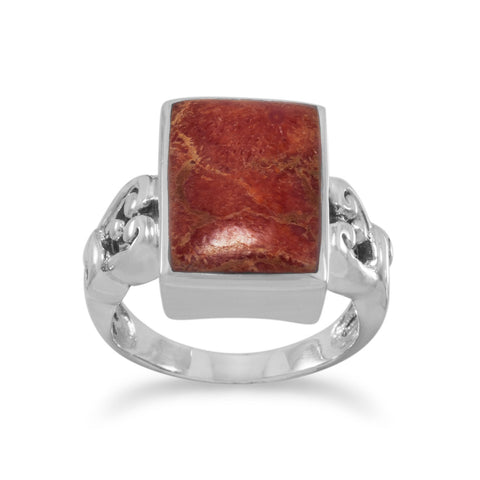 Rectangle Sponge Coral Ring