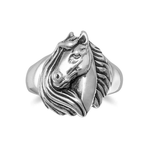Horse With Mane Ring