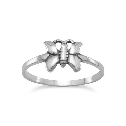 Small Oxidized Butterfly Ring