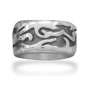 Flame Design Ring