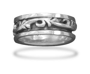 Scroll Design Spin Ring