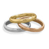 Tri Tone Triple Band Ring