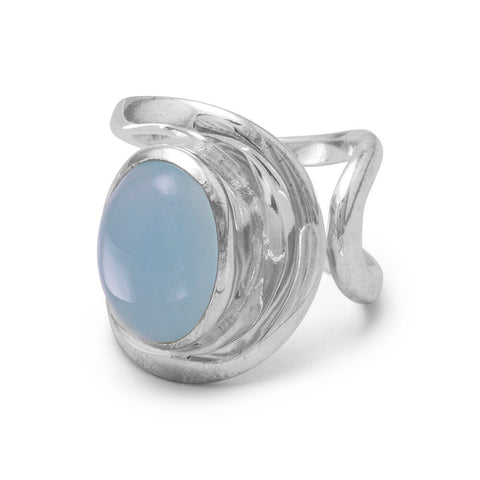 Open Band Chalcedony Ring