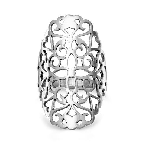 Large Cut Out Flower Design Ring