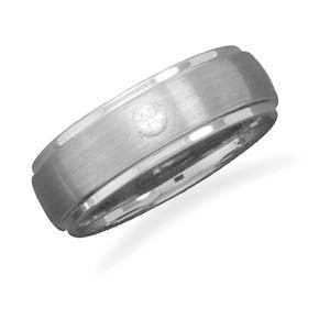 Tungsten Carbide and CZ Ring