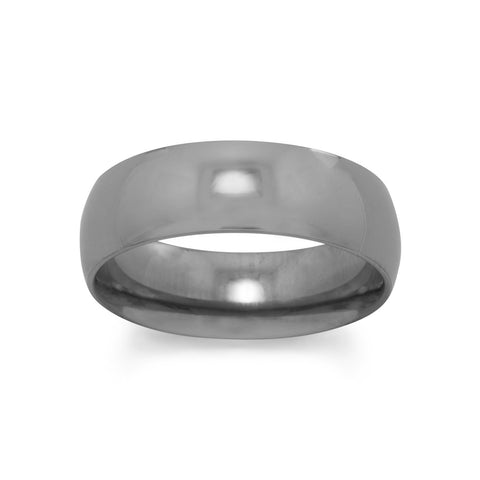 Polished Titanium Ring
