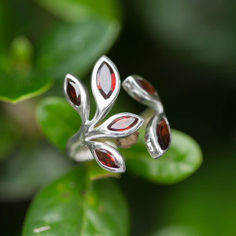 Wrap Around Garnet Ring