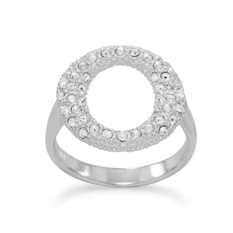 "Clear CZ ""O"" Ring"