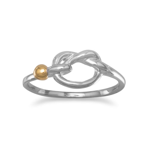 Two Tone Knot Design Ring
