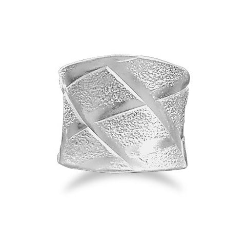 "Wide ""X"" Design Ring"
