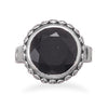Oxidized Black Onyx Ring