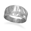 Oxidized Tapered Textured Ring