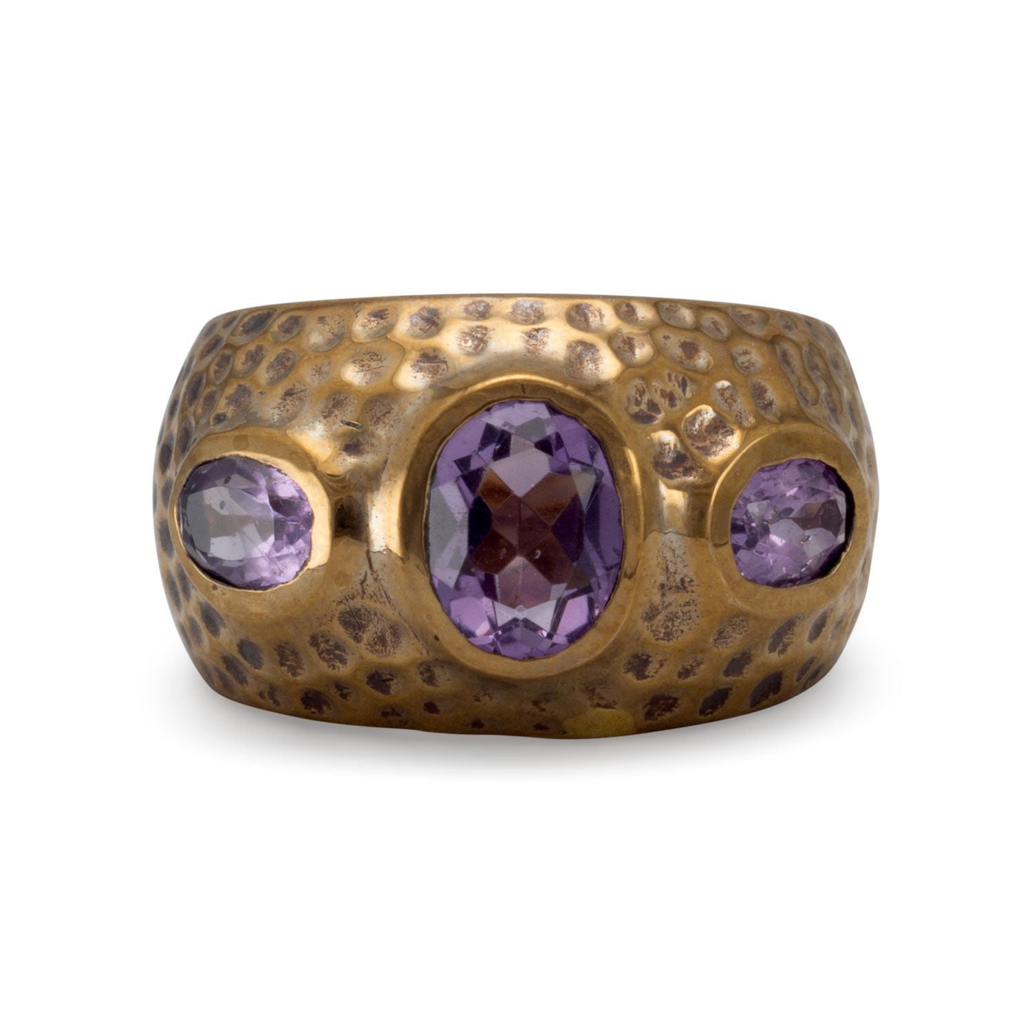 Bronze and AMETHYST Ring