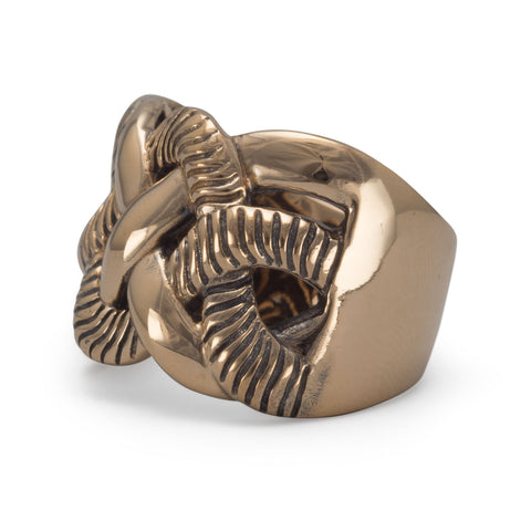 Bronze Weave Design Ring