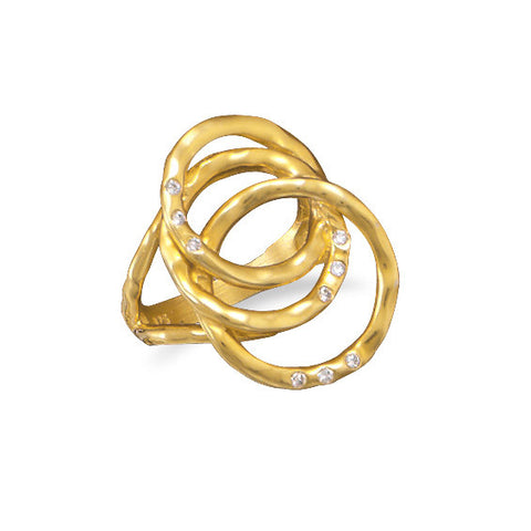 14 Karat Gold Plated Circle Design Ring