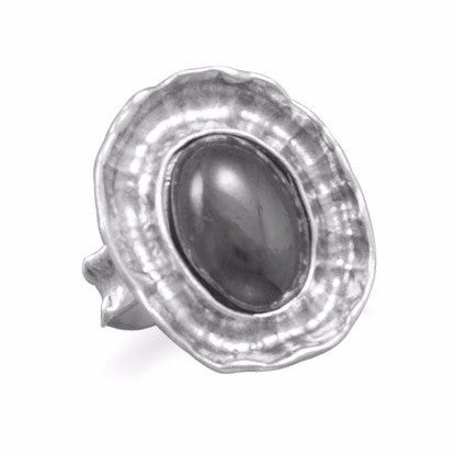 Oval Hematite Ring