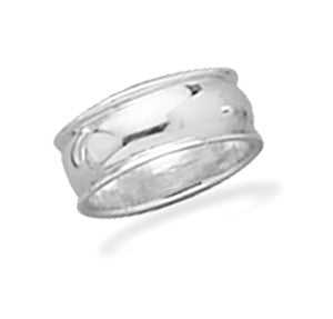 7.5mm Rimmed Band Ring
