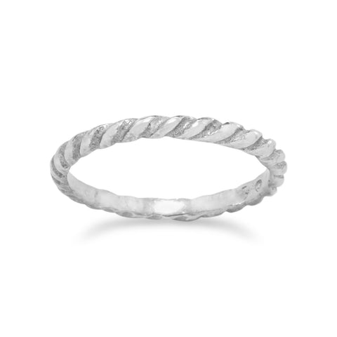 Twisted Silver Baby Ring