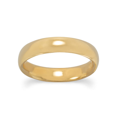 4mm 14 Karat Gold Plated Band