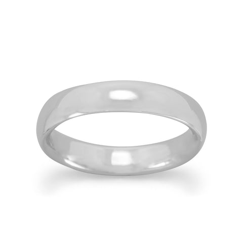 4mm Rhodium Plated Band