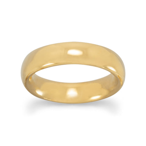 5mm 14 Karat Gold Plated Band