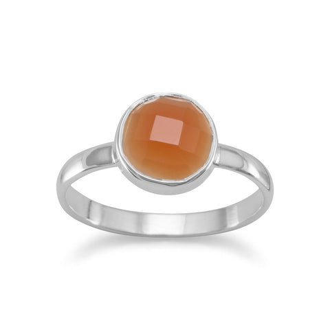 Faceted Carnelian Stackable Ring