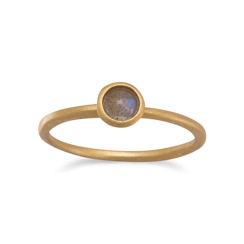 14 Karat Gold Plated Moonstone Ring