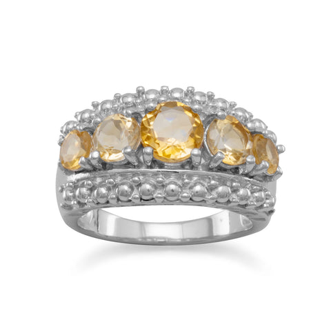 Graduated Citrine Ring