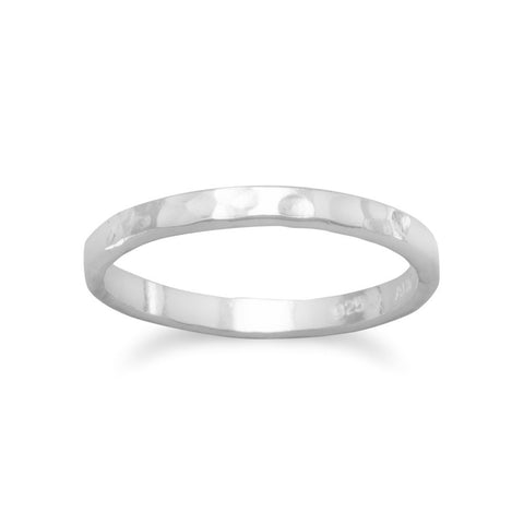 Children's Thin Hammered Band