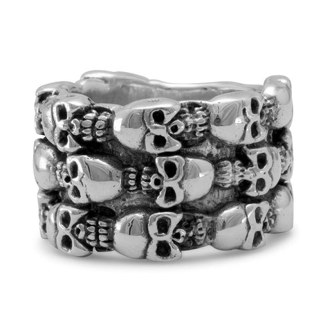 Oxidized Skull Design Ring