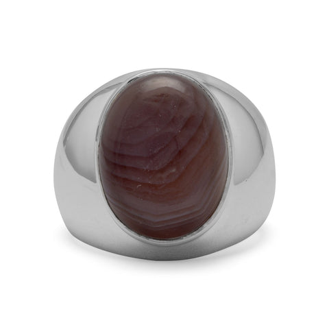 Oval Botswana Agate Ring