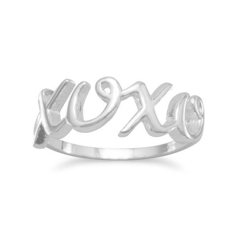 "Polished Script ""XOXO"" Ring"