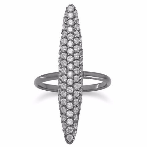 Dazzling Impression Pave CZ Ring